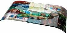 GILDE Glas ART Schale PATCHWORK Wellenschale H 54