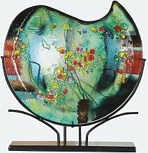GILDE Glas Art Vase Sommerblumen Fusing Dekovase