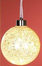 GILDE Glas Christbaumkugel silber mit LED