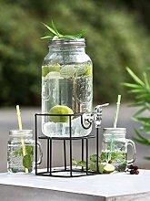 GILDE Glas Getränkespender im Ständer Handwerk