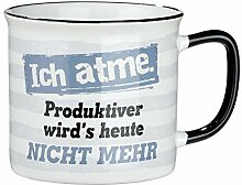 Gilde Keramik Tasse 'Ich atme.'