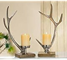 Gilde Kerzenständer Geweih aus Aluminium mit