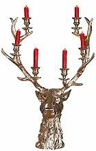 Gilde Kerzenständer Hirsch Kopf für 6 Kerzen aus