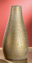 Gilde konische Vase 'Timbro' 32144 Dekoidee Geschenkidee Weihnachten Wohndeko Keramik Deko Tischdeko gold