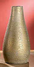 Gilde Konische Vase Timbro Keramik gold 32145 Dekoidee Keramikvase Geschenkidee Weihnachten Tischdeko gold