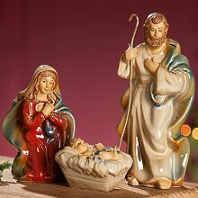 GILDE Krippen-Figuren Heilige Familie, Höhe 18