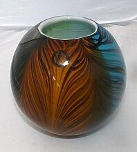 Gilde Kugelvase Glas 17cm 393873 Dekoidee Geschenkidee Wohndeko Tischdeko Geburtstag