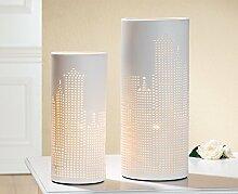 Gilde Lampe 'Skyline', 35 cm, weiß