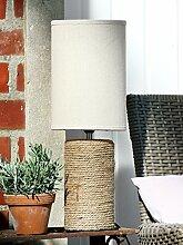 GILDE Lampe Corda Keramik beige zylindrisch,