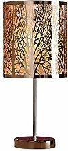 GILDE Lampe Forest - Tischlampe mit Wald Motiv