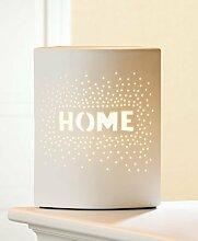 Gilde Lampe HOME ca 25 cm Weiß mit Kippschalter