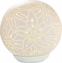 GILDE Lampe Kugel Blume - aus Porzellan mit