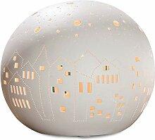 GILDE Lampe Kugel City - aus Porzellan mit