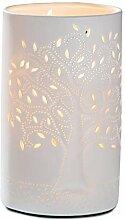 GILDE Lampe Lebensbaum - aus Porzellan mit