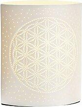 GILDE Lampe Lebensblume - aus Porzellan mit