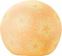GILDE Lampe Sterne - aus Porzellan mit Lochmuster