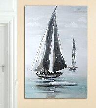 GILDE Leinwandbild Sailing Boat 60,0x90 cm blau