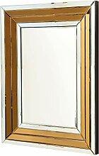 GILDE MDF Spiegel mit Rand in Kupfer und Silber -