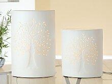 GILDE Porzellan Lampe B 18 cm H 28 cm Ellipse