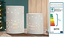 Gilde Porzellan Lampe Ellipse 'Kirche'