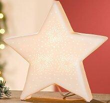 GILDE Porzellan-Lampe Stern, 24 cm