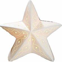 Gilde - Porzellan-Lampe Stern - Winterliche
