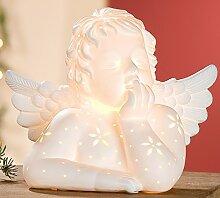 GILDE Porzellanlampe Schutzengel Tischlampe