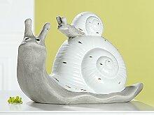 Gilde Schneckenfamilie Vintage Keramik L 30cm