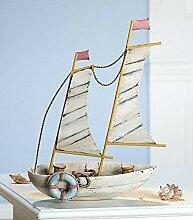 Gilde Segelboot mit Metallsegel Höhe: 32 cm