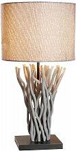GILDE Treibholz-Lampe Sole - mit grauem