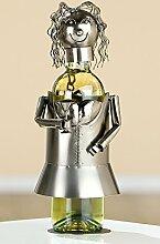 Gilde Weinflaschenhalter Frau mit Sektglas Ehrung