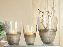 GILDE Windlicht Glas 26x18,5x26 cm farblos