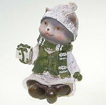 GILDE Winterkätzchen mit Geschenk - Tierfigur zu