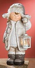 GILDE Winterkind Mädchen stehend mit Laterne, 42 cm