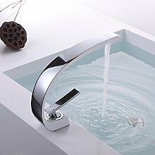 Gimili Wasserhahn Bad Weiß Badezimmer Armatur Amaturen Badezimmer für Waschbecken Waschtischarmatur