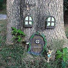 GIMS Fee fee GNOME Home Fenster und tür mit Lampe