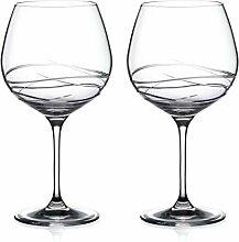 Gin Copa Kristallgläser, handgeschliffen, in