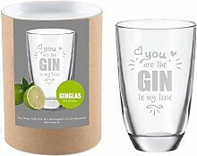 Gin-Glas • You Are The Gin to My Tonic • mit