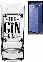 Gin King Gin Tonic Vodka-Glas mit
