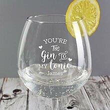 Gin to My Tonic Gin Ballon Glas für Valentinstag,