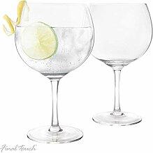 Gin Tonic Trinkgläser im 2er Set - Glas