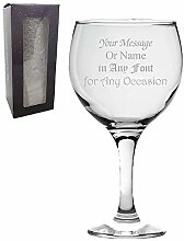 Gin- und Tonic-Glas, personalisierbar, in