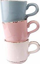 Gina Da Tasse Kaffeebecher Geschirr Blau Rosa