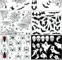 Ginfonr Halloween-Aufkleber, Dekoration mit