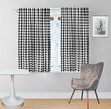 Gingham-Karo Fenstervorhang, Deko-Panel,