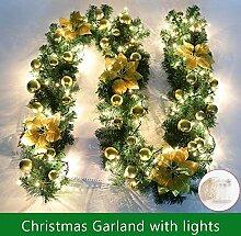 ginkago Weihnachtsgirlande Beleuchtung, 2.7M