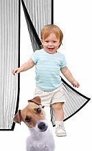 GINMIC Fliegengitter Tür/Vorhang 90x 210 cm, Insektenschutz Magnet Türvorhang/fliegengitter magnet für die Balkontür, Gartenhaus, Klebmontage ohne Bohren