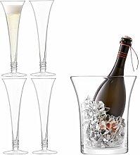 Ginsanity Prosecco Kollektion - 4 Flöten / Gläser Handgemacht & Eiskübel