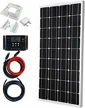 Giosolar 100 Watt Solaranlage Basic-Starter 100W / 12V - Solar Bausatz -Gartenhaus Neu Solar Garten Set Camping Wohnmobil Inselsystem Solarzelle-Solarset Komplette