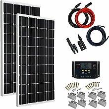 Giosolar Solaranlage 200 Watt (2X100W) Solaranlage